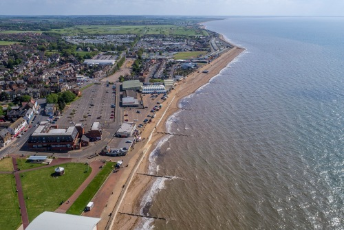 Aerial picture of Hunstanton