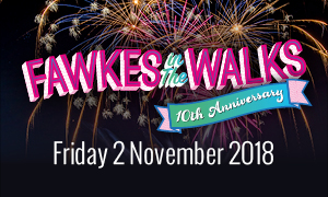 Advert giving date of 2 November for Fawkes in the Walks