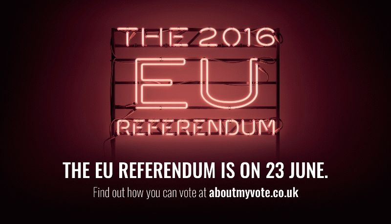 The EU Referendum is on 23 June 2016.