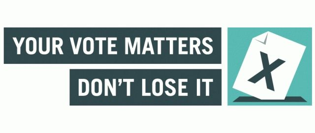 Your vote matters. Don't lose it