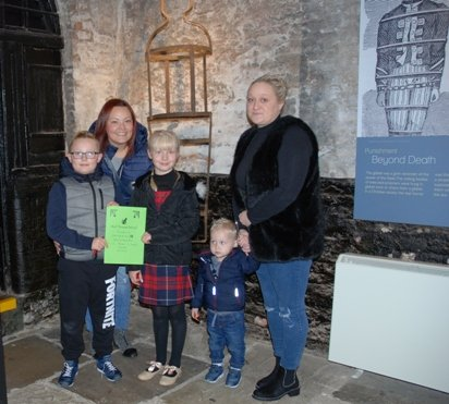 Winners from the Escape Room at the Old Gaol House