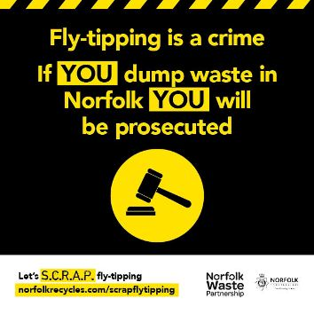 Fly-tipping is a crime image