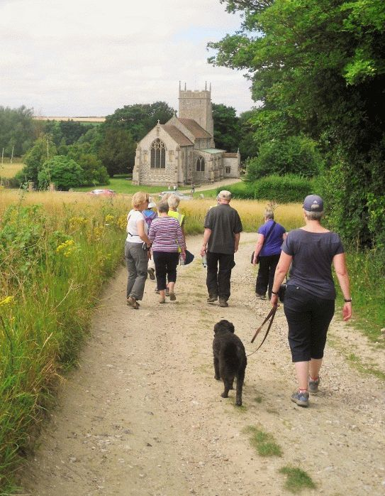 Walkers on a free health walk