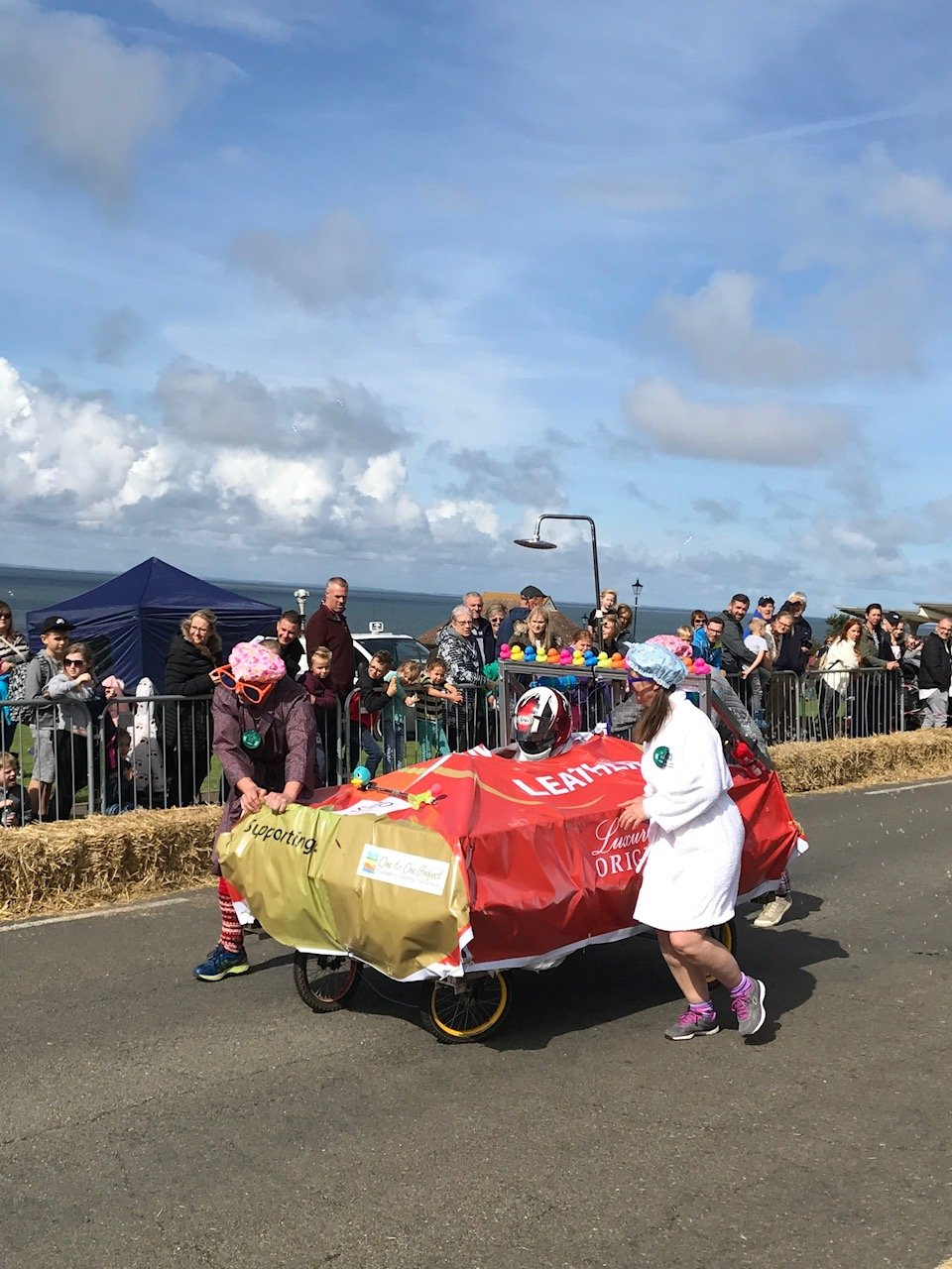 Image of a red kart participating in the Soap Box Derby