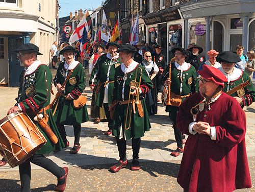 Picture of the Hanse parade through King's Lynn.