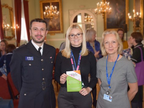 Supt Dave Buckley, Amy Attlesey from Help Hub & Lorraine Gore at the launch.