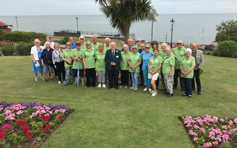 Group in Esplanade Gardens in Hunstanton.