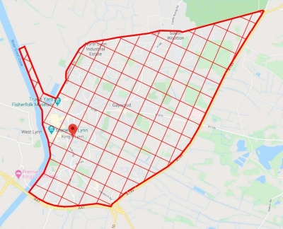 Map of the public space protection order for King's Lynn