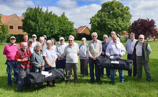 Gaywood Valley Conservation Group & Pott Row litter pickers collect their kits