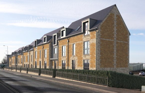 An artists impression of the proposed housing in Hunstanton