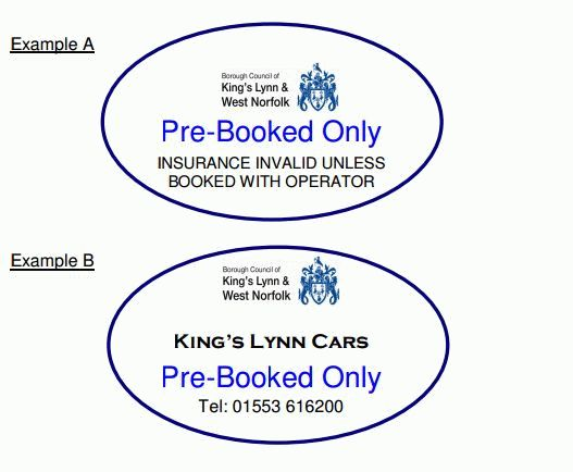 Pre-booked only signs
