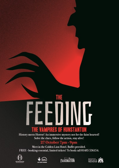 A poster advertising The Feeding which is a Halloween event taking place on 27 October