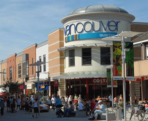 A view of the vancouver quarter in King's Lynn