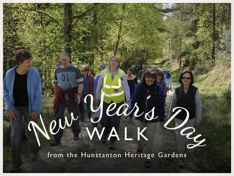 Image of walkers advertising New Year's Day walks