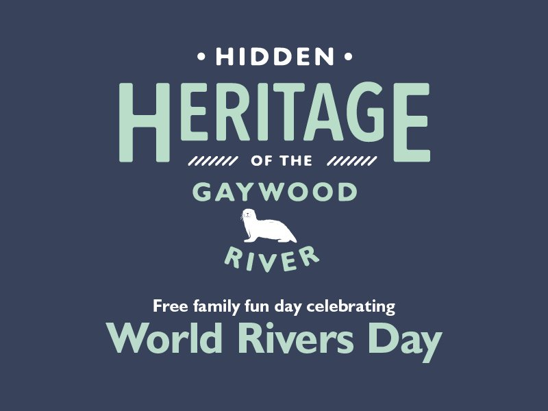 Graphic of Gaywood Hidden Heritage logo with World Rivers Day written underneath