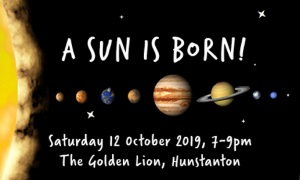 An image of the solar system to advertise the stargazing event in Hunstanton on 12 October