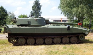 An image of a green army tank