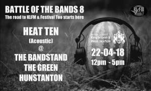 An image advertising the 'Battle of the Bands' competition on 22 April 2018
