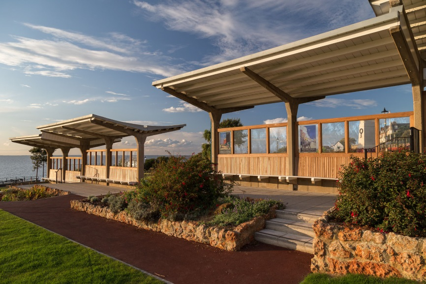 A picture of the butterfly shelters in Hunstanton