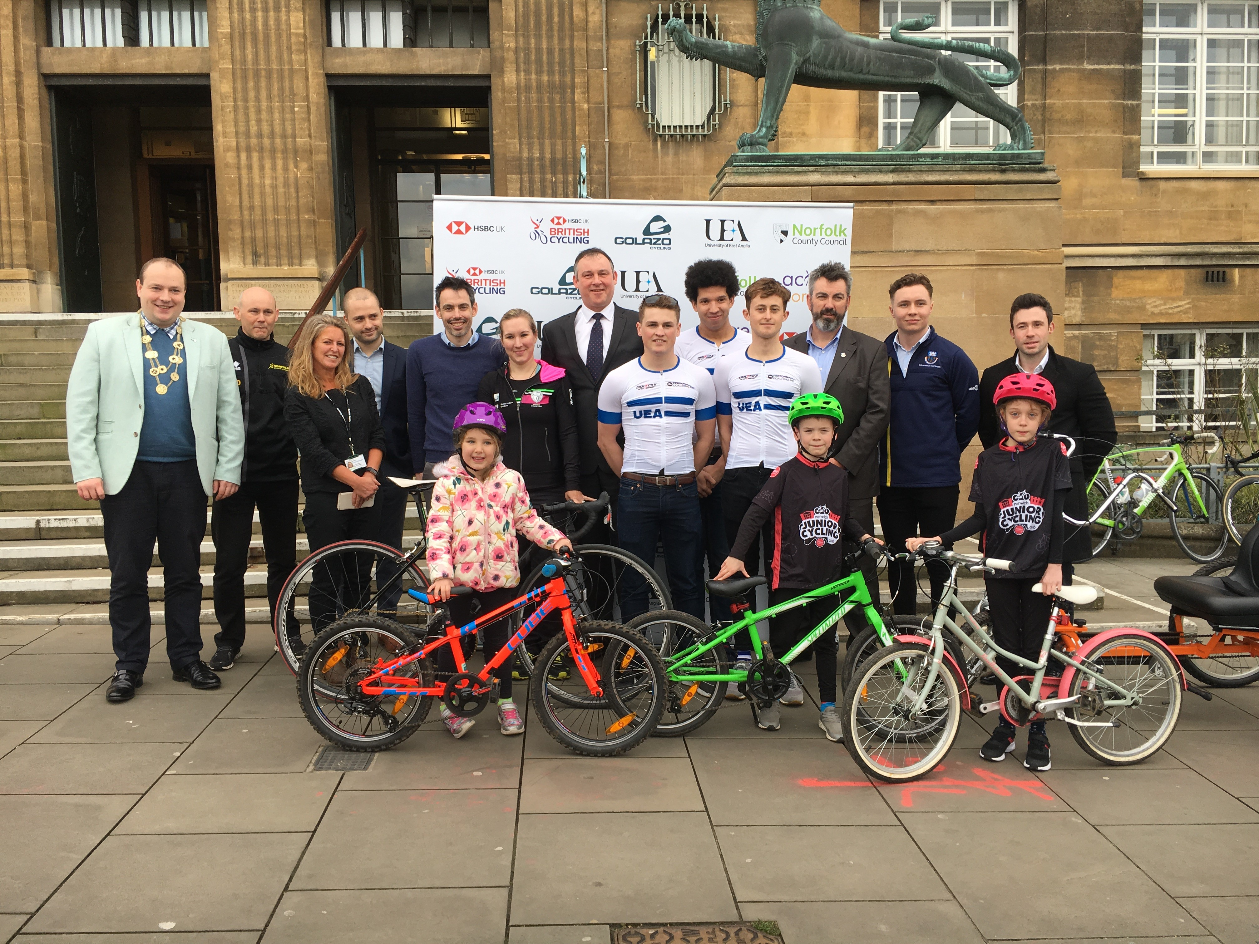 HSBC UK | NATIONAL ROAD CHAMPIONSHIPS 2019 launch photo