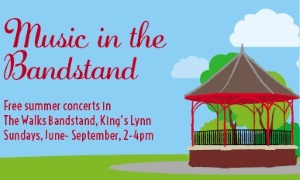 An image of the bandstand in the Walks, Kings Lynn