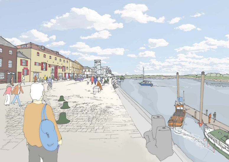 an illustration of Nelson quay development