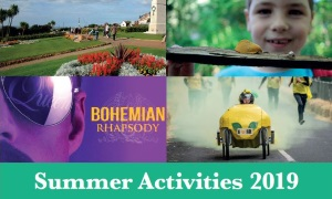 An image of some activities going on at the Hunstanton Heritage Gardens to advertise the summer 2019 activities