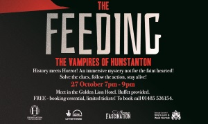 An image advertising The Feeding event, a halloween event in Hunstanton
