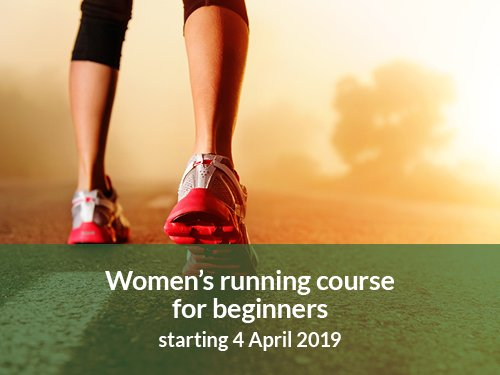 An image of running trainers to advertise the women's running course starting 4 April 2019